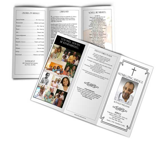 funeral program template trifold 1