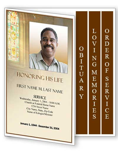 Graduated Fold Funeral Program Template  Program For A Funeral