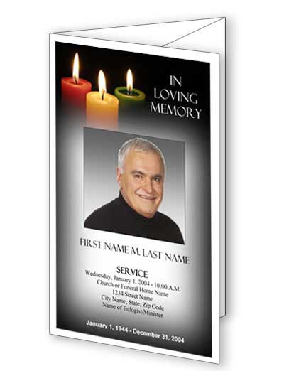 Funeral Program Layouts | Funeral Program Designs