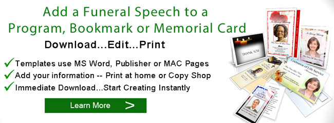 funeral speech programs banner