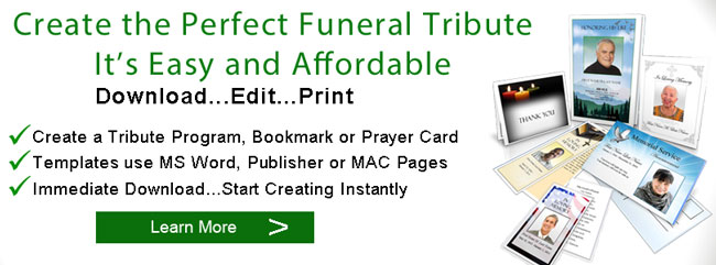 funeral tribute programs banner