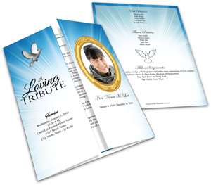 gatefold funeral program template