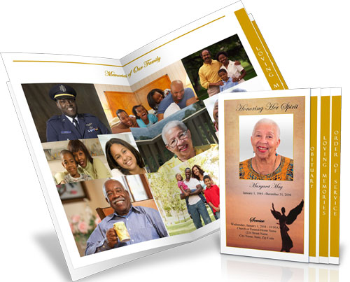 funeral program collage example