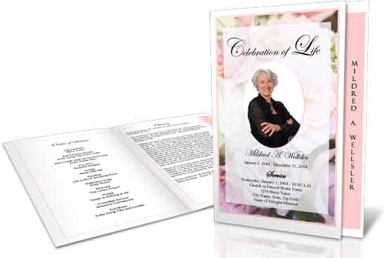 graduated fold funeral program sample