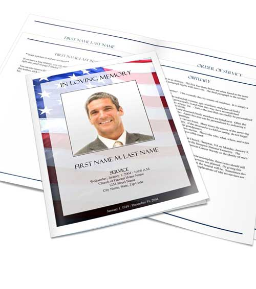 select a funeral program design and layout elegant memorials