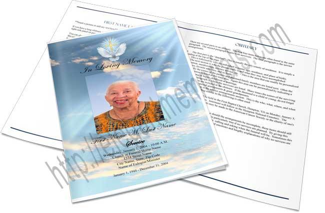 Memorial Folders Funeral Folders Elegant Memorials