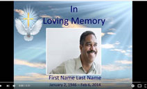 memorial slideshow template