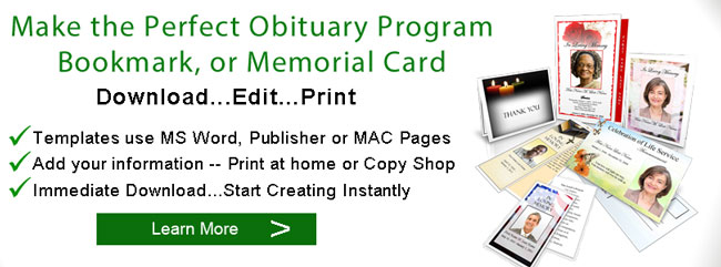 online obituary program banner