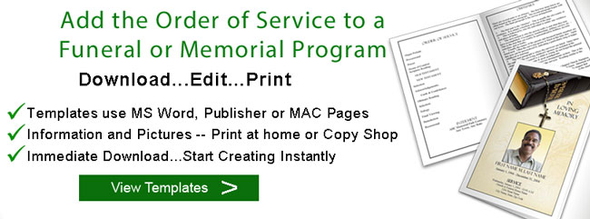 Eulogy Template  Creative Funeral Ideas
