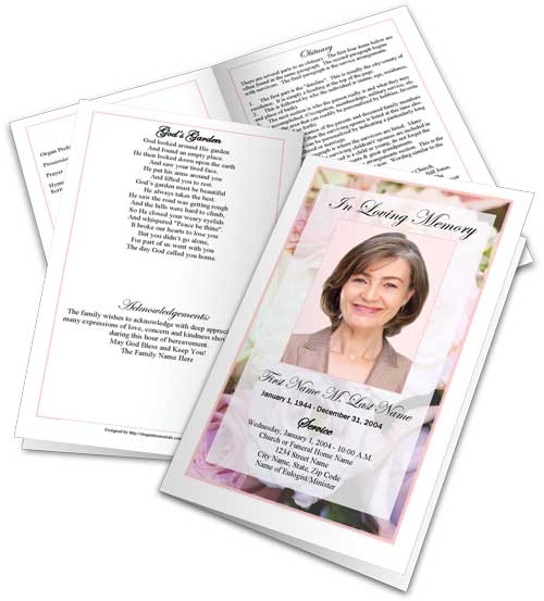 Elegant Memorials Has A Wide Assortment Of Funeral Program Templates,  Bookmark And Prayer Card Templates To Choose From. We Have A Wide Variety  Of Designs, ...  Funeral Pamphlet Templates