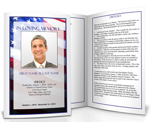 Military Funeral Planning  Funeral Announcement Sample