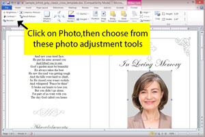 photo editing tools in Microsoft Word or Publisher