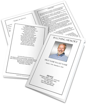 Funeral Program Template Sample