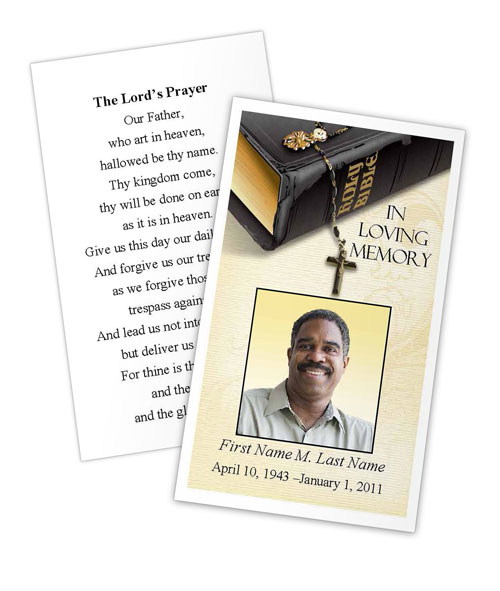 Memorial Prayer Card Bible Memories  Prayer Card Template Free