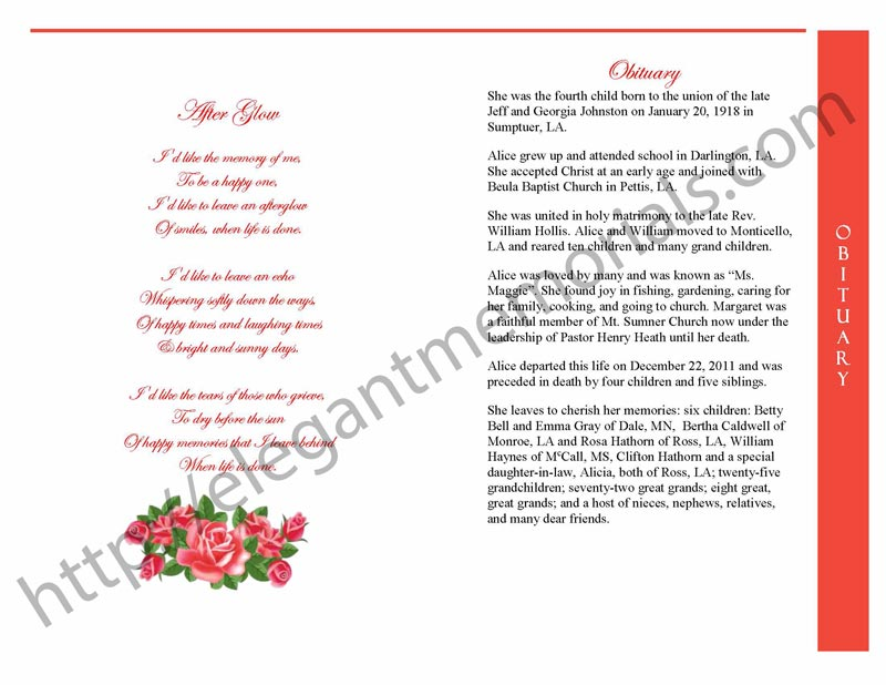 step fold 4 page vintage rose red template Page 3