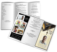 sample funeral booklet trifold