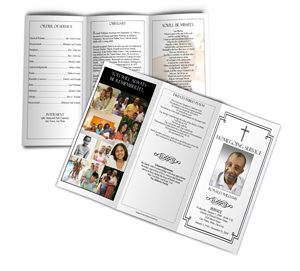 sample funeral program trifold