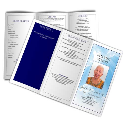 Select A Funeral Program Design And Layout Elegant Memorials