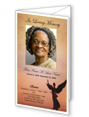 Beloved Angel Trifold Funeral Program