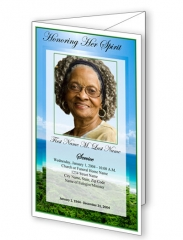 Eternal Paradise Trifold Funeral Program Template