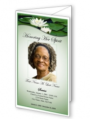 Treasured Lillie Trifold Funeral Program Template