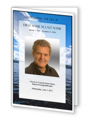 Wade in the Water Trifold Funeral Program Template