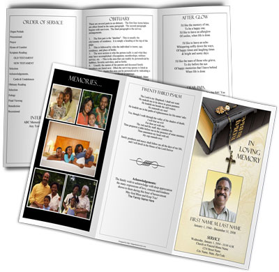 trifold bible memories small